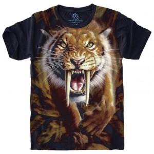 Camiseta Tigre Dente de Sabre Felino