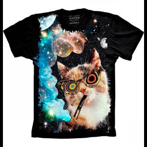 Camiseta Gato Psy Tamanho Infantil 6 [Última Peça - Liquidação]