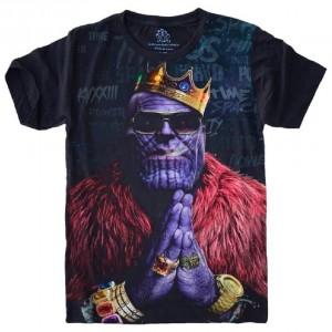 Camiseta Vingadores Thanos Tamanho Infantil 6 [Última Peça - Liquidação]