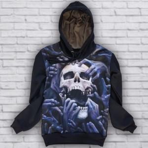 Moletom Caveira Mãos Skull Hands Skull