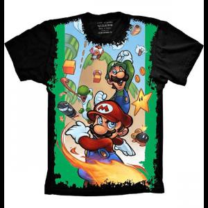 Camiseta Super Mario e Luigi