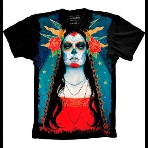 Camiseta Skull Caveira Mexicana