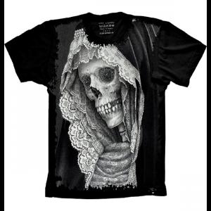 Camiseta Skull Caveira Mulher