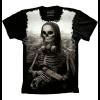 Camiseta Skull Caveira Mona Lisa