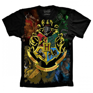 Camiseta Harry Potter Brasão De Hogwarts