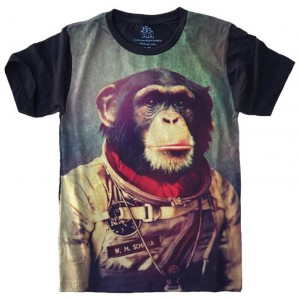 Camiseta Macaco Astronauta Chipanze