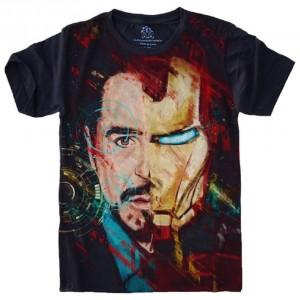Camiseta Homem de Ferro Tamanho Babylook M [Última Peça - Liquidação]