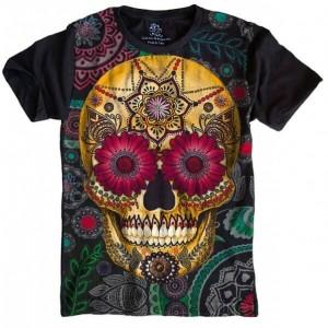 Camiseta Caveira Mexicana Skull