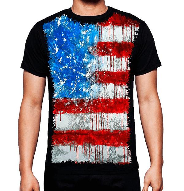 Camiseta Bandeira Dos Estados Unidos